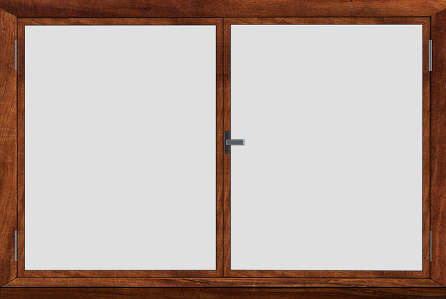 窓ガラスの熱割れ画像