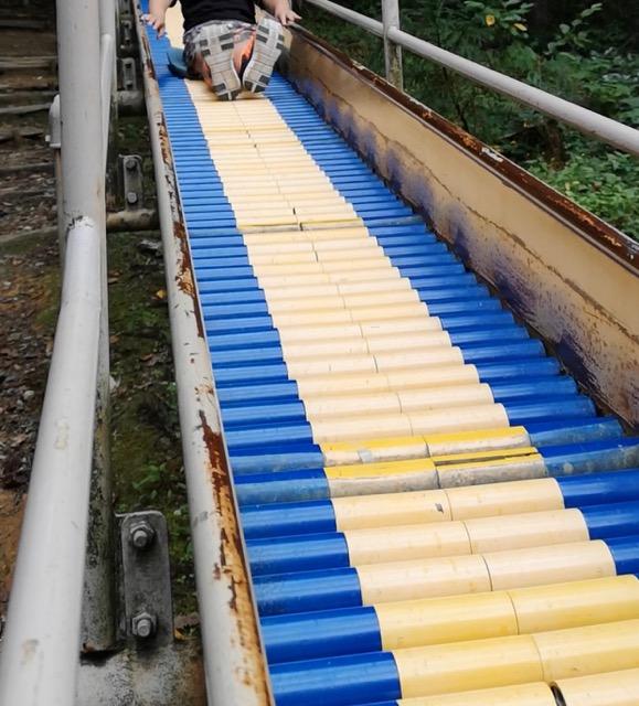加茂山公園ローラー滑り台画像
