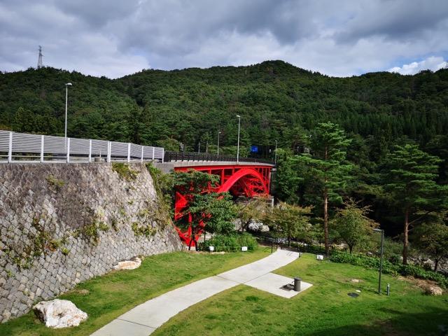 新潟胎内観光樽が橋の遊園画像